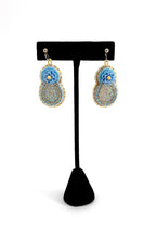 Baby Blue Daisy Earrings Small by Temira Vance