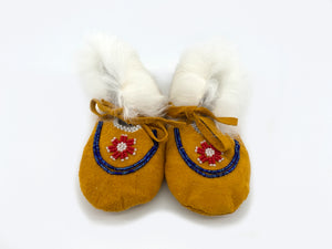 Rabbit Baby Booties by Gertie Tom