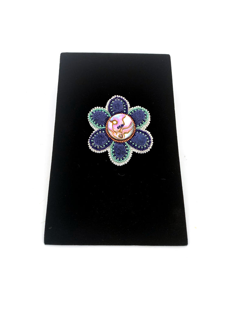 Tufted Flower Brooch by Tammy Wood