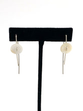 Mother of Pearl Button Blanket Earrings by Mark Preston