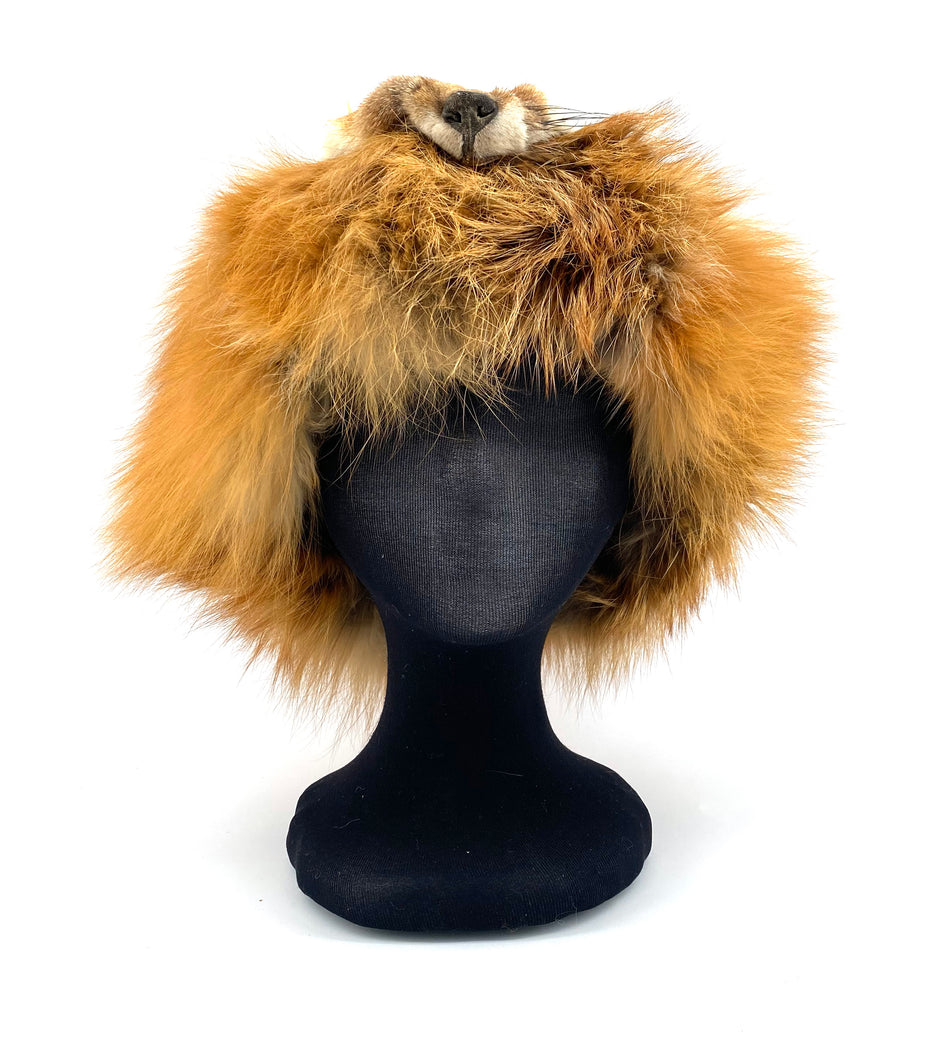 Fox Fur Hat by Gertie Tom