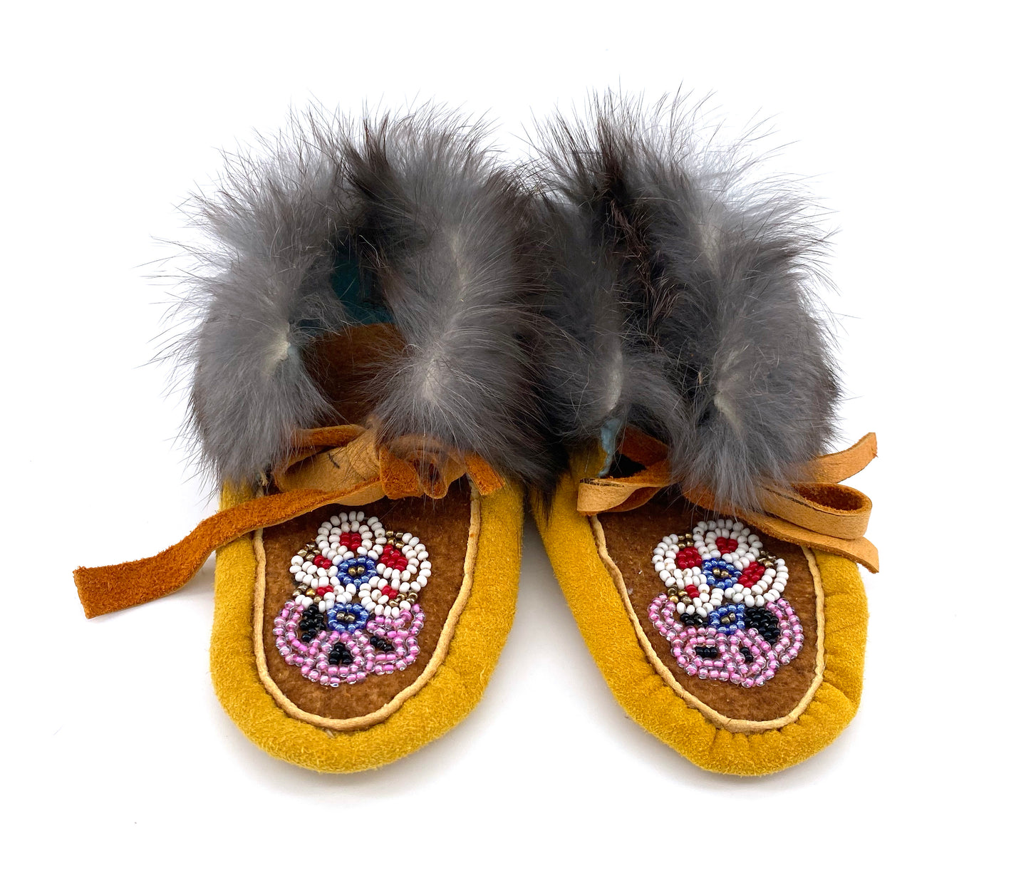 Beaded Toddler Booties by Gertie Tom