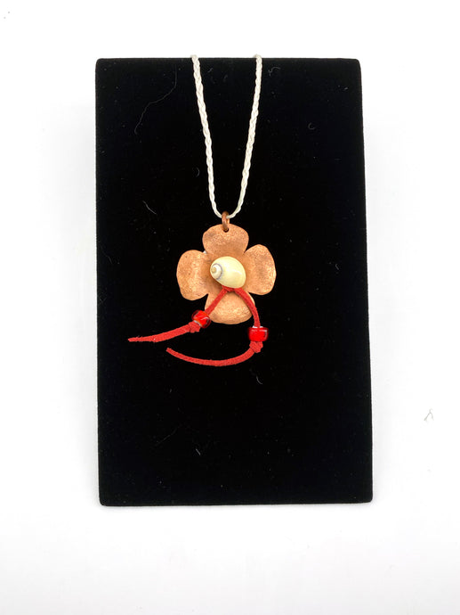 Copper Ocean Flower Necklace by Dennis Shorty