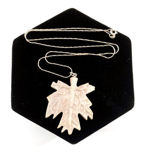 Caribou Maple Leaf Necklace by Dennis Shorty