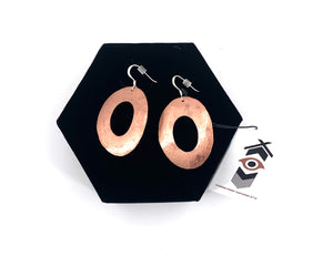 Copper Circle Earrings by Laurie Bagshaw