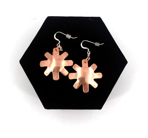 Copper Sun Earrings by Laurie Bagshaw