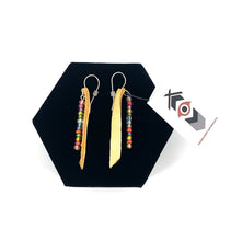 Hide and Bead Earrings by Laurie Bagshaw