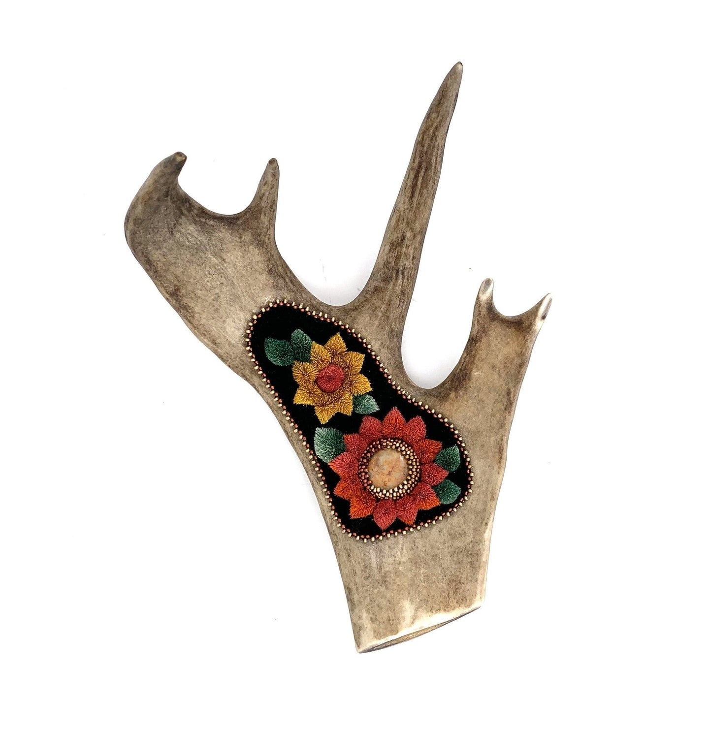 Sunflowers Caribou Tufting by Faye Chamberlain