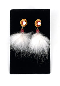 2-in-1 Tufted Chalcedony Fur Drops by Randi Nelson of Métis North