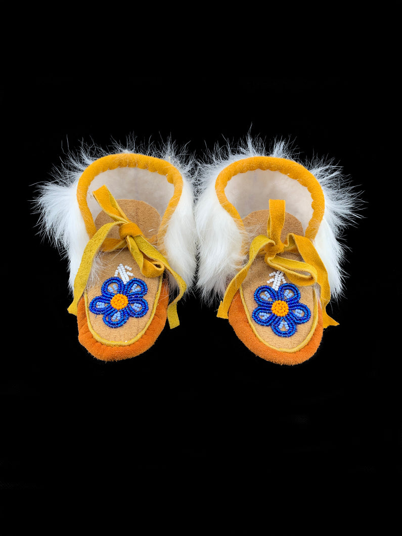 Beaded Toddler Booties by Gertie Tom (1 year)