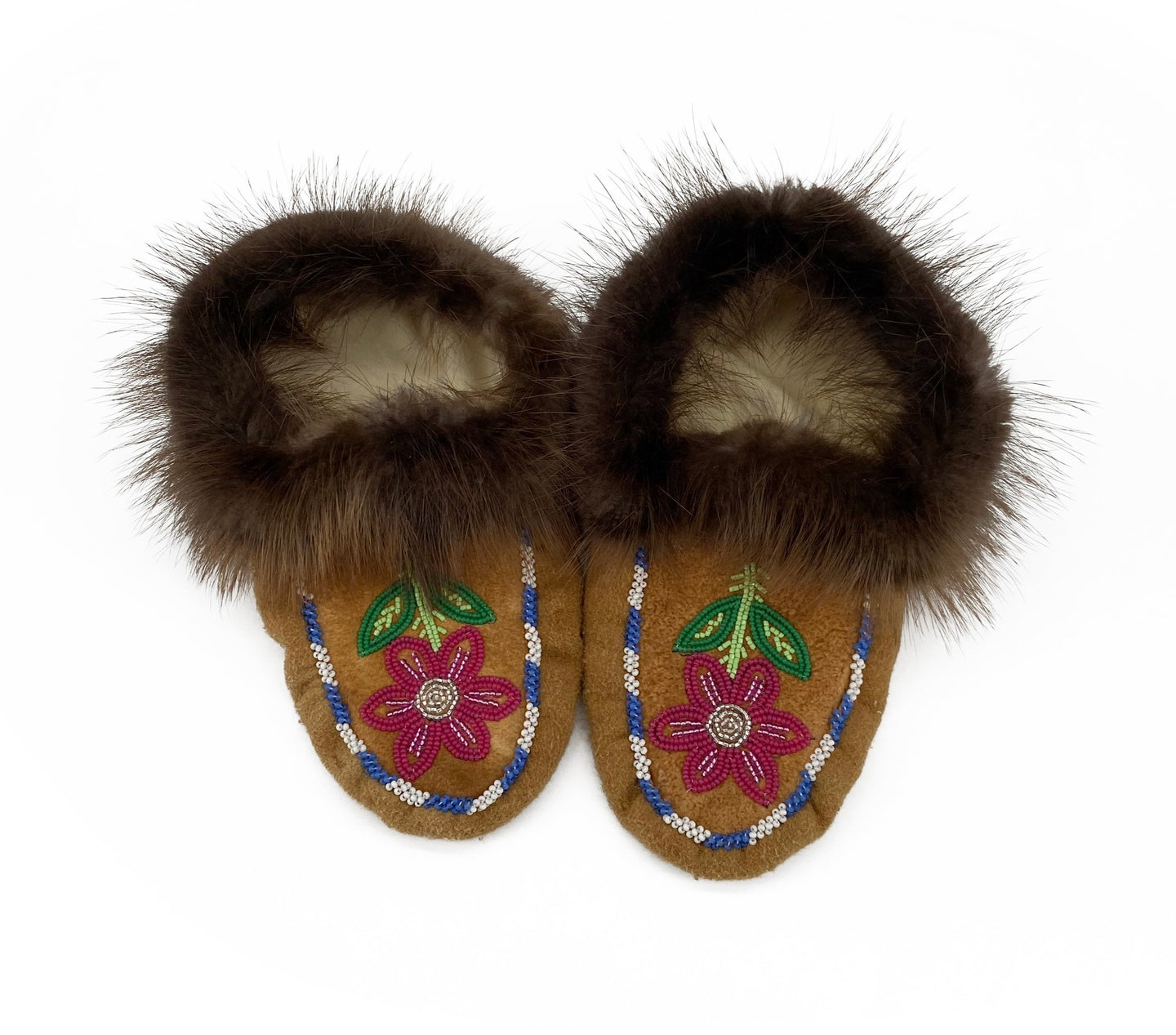 Beaded Slippers by Gertie Tom W/6