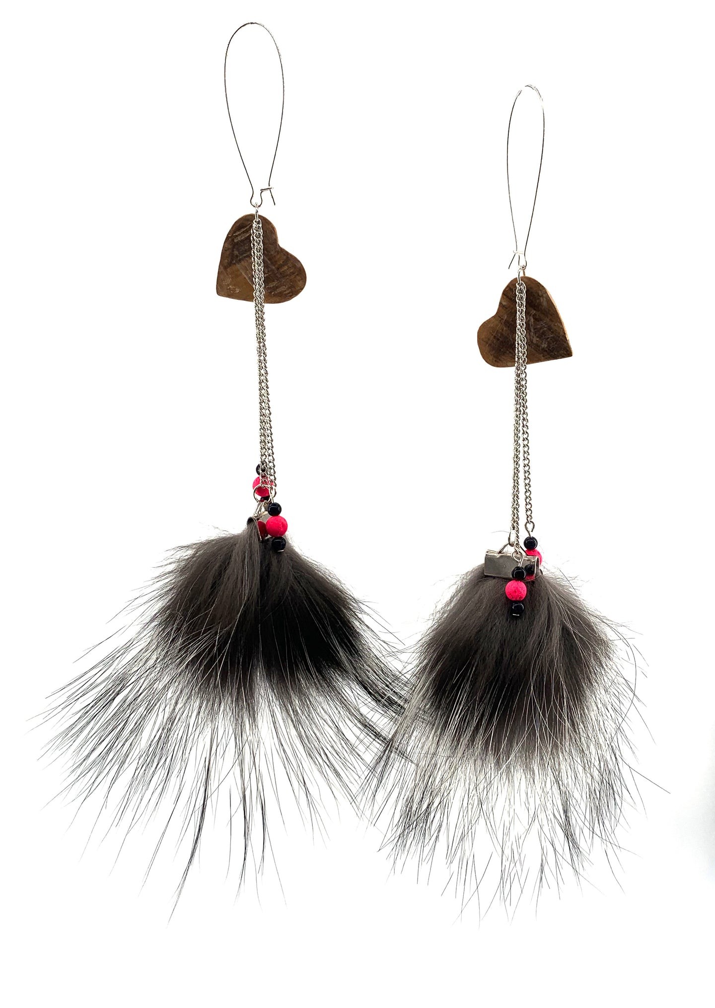 Pompom Earrings by Natasha Peter