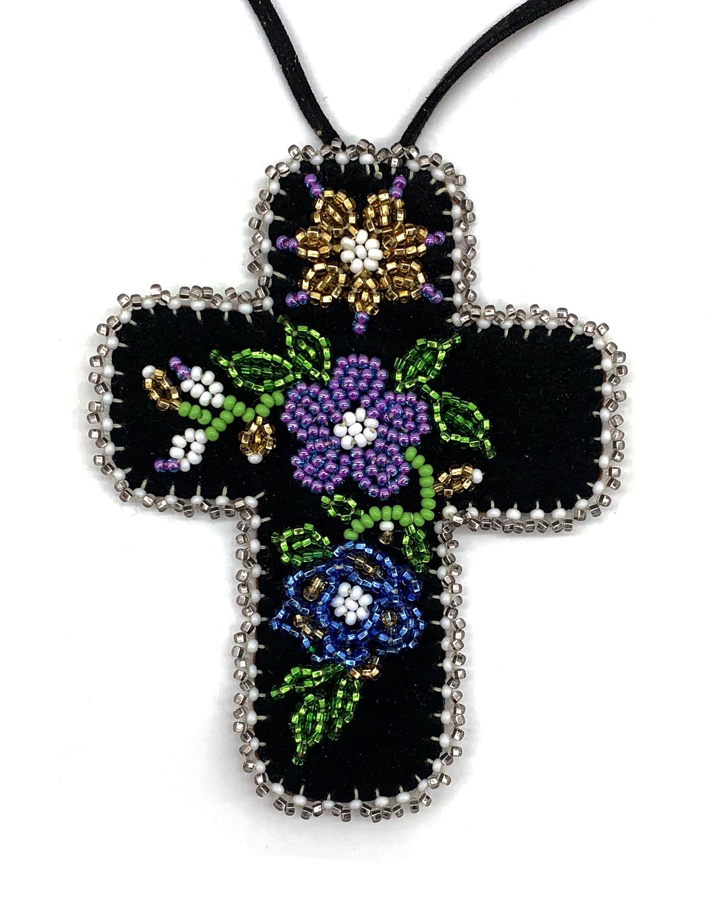 Beaded Cross by Diane Smith