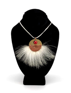 Red Planet Necklace by Dennis Shorty