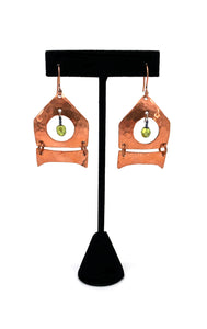 Koa - Wall Tent Earrings by Dennis Shorty