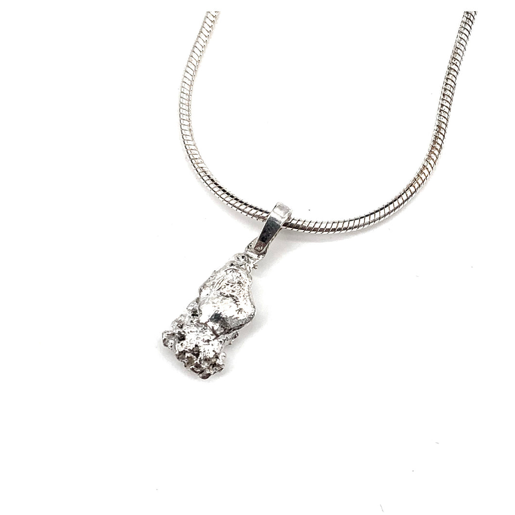 Small Silver Nugget Pendant by Mark Preston