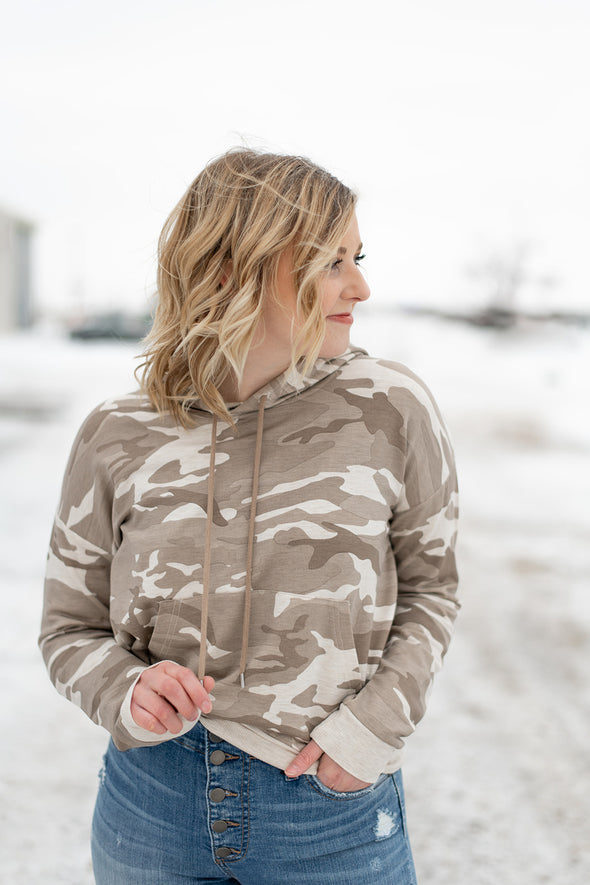 Camo Hooded Pullover