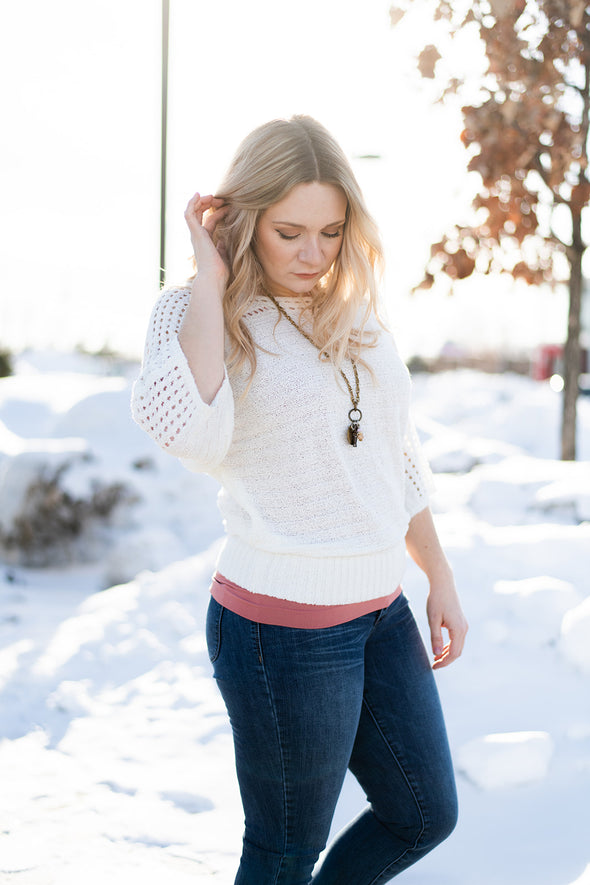 Open Stitch Spring Sweater