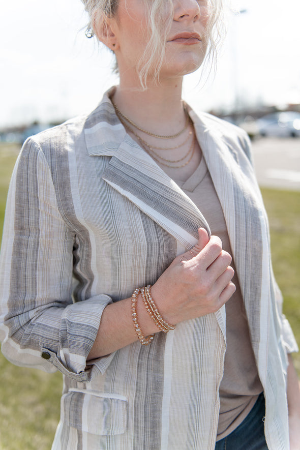 Linen Striped Blazer