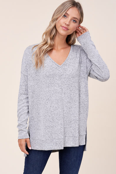 Simple V-Neck Tunic