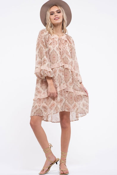 Paisley Ruffle Dress