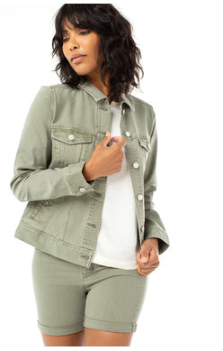 Olive Denim Jacket