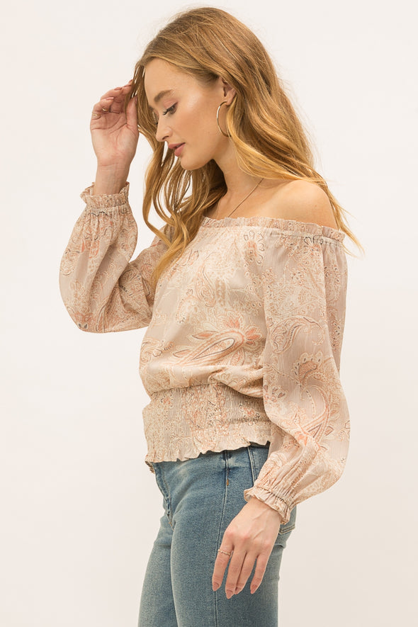 Off-the-Shoulder Date Night Blouse