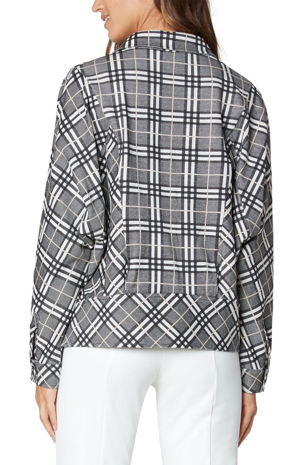 Plaid Cocoon Jacket