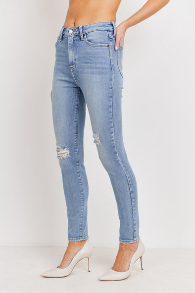 Light Wash Distressed Spring Denim