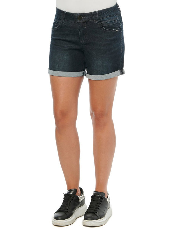Dark Wash Cuffed AbSolution Short