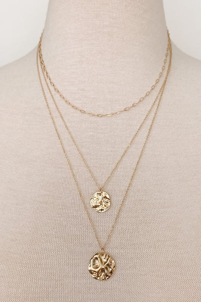 Layered Chain + Coin Necklace
