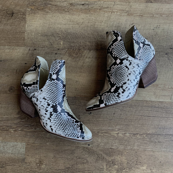 The Snakeskin Bootie