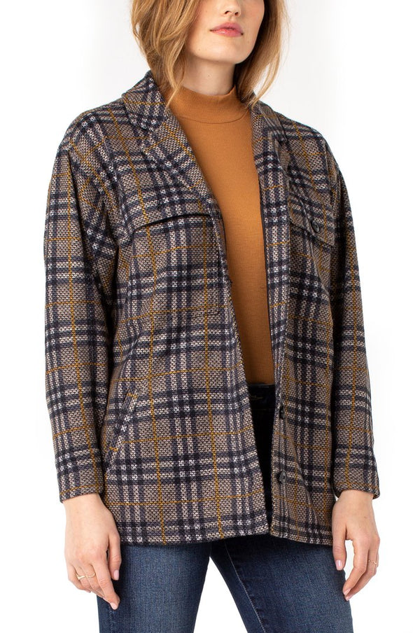 Boxy Plaid Jacket