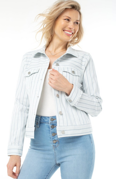 Striped Denim Jacket