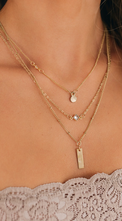 Boho Layered Charm Necklace