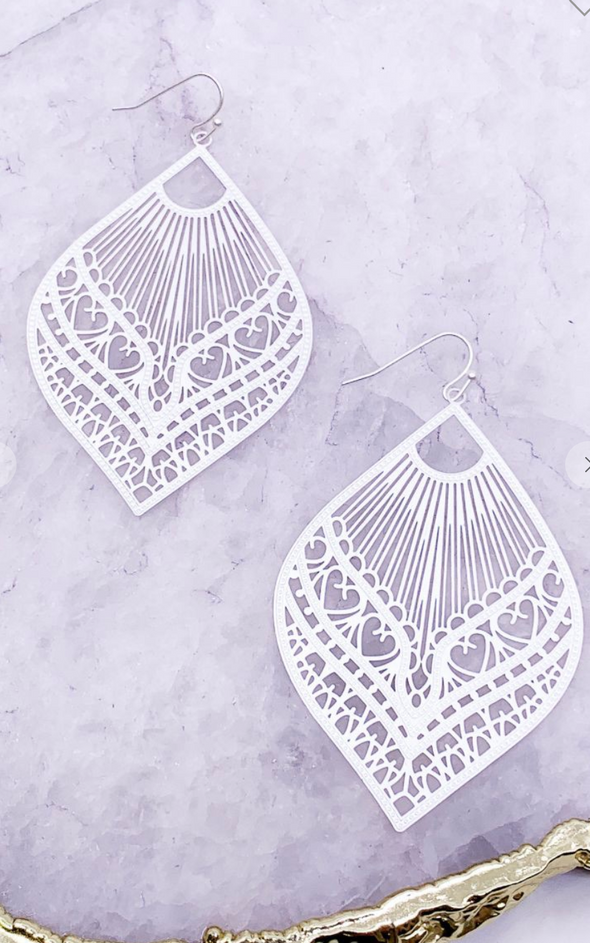 Matte Silver Statement Earrings