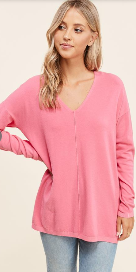 Seamed V-Neck Sweater III