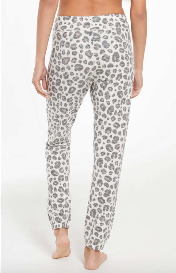 Cozy Brushed Leopard Jogger