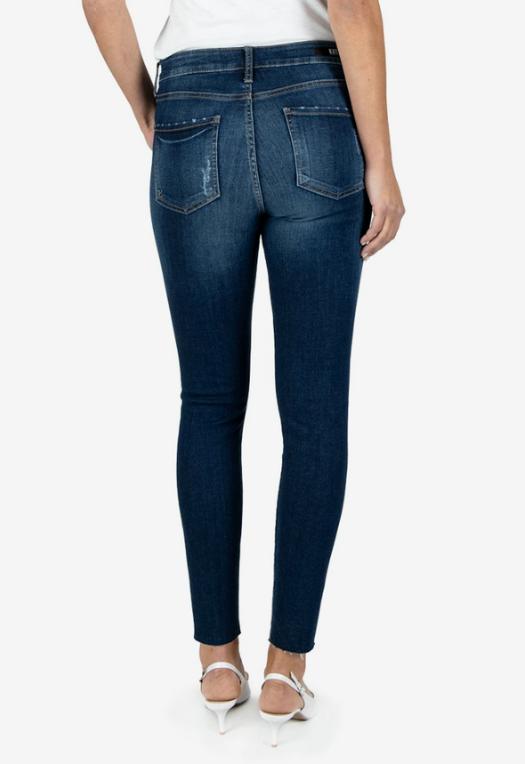 High Rise Distressed Detail Skinny Jean