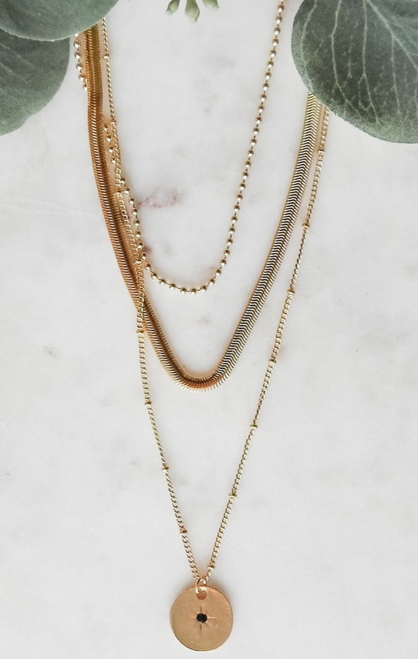 Layered Boho Coin Necklace