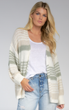 Oversized Striped Spring Cardigan