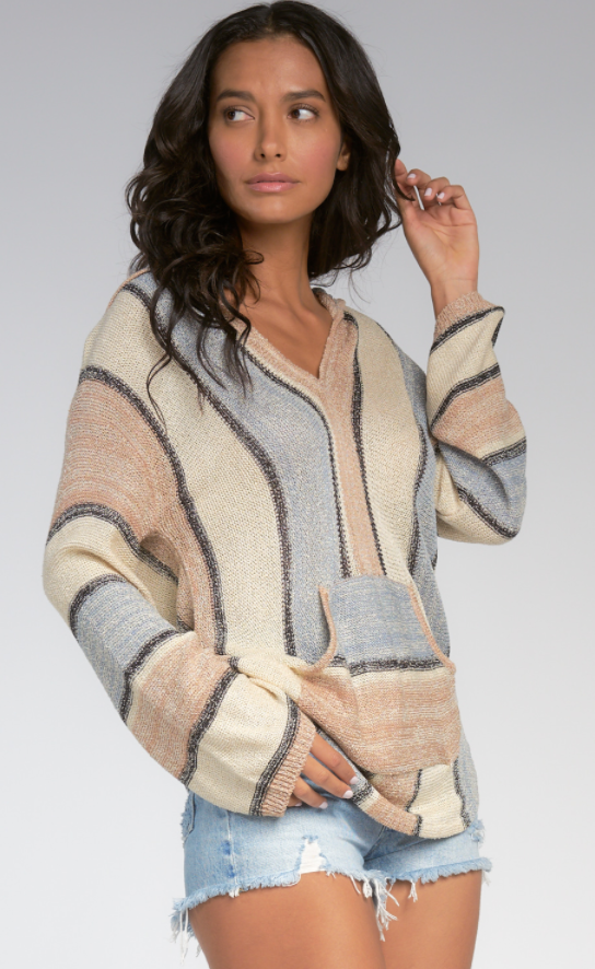 Beachy Hooded Sweater