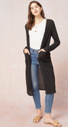 Spring Ribbed Duster Cardigan