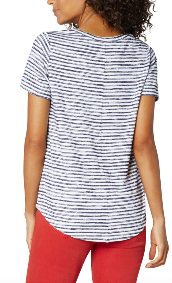 Easy Stripe Knit Tee