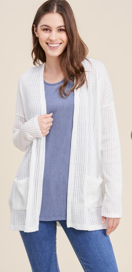 Open Knit Lightweight Cardigan