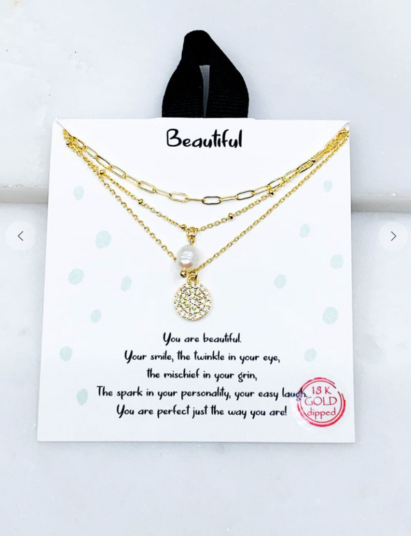 Dainty Chain + Pearl Necklace