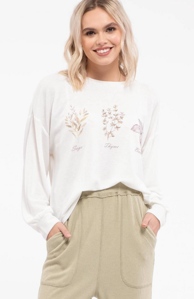 Garden Tie Back Graphic Top