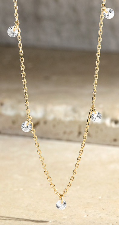 Dainty Mini Crystal Necklace