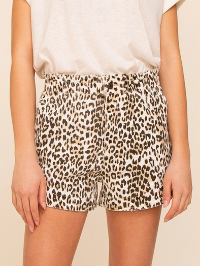 Leopard Relaxed Fit Shorts