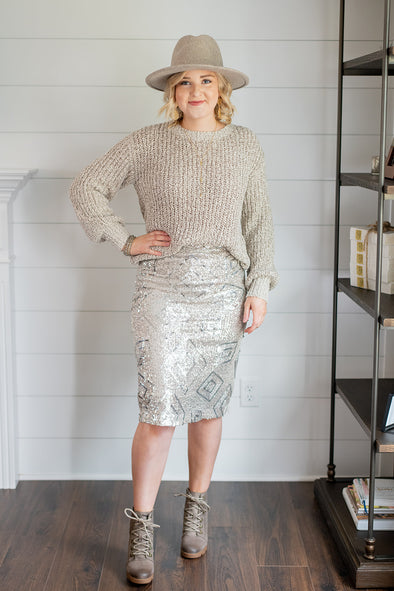 The Sequined Pencil Skirt
